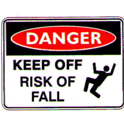Stick Danger Keep Off Risk Fall Label