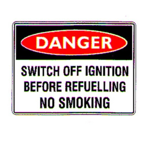 Stick Danger Switch Off Ignition Label