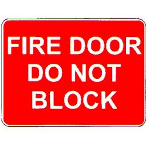 Stick Fire Door Do Not Block Label