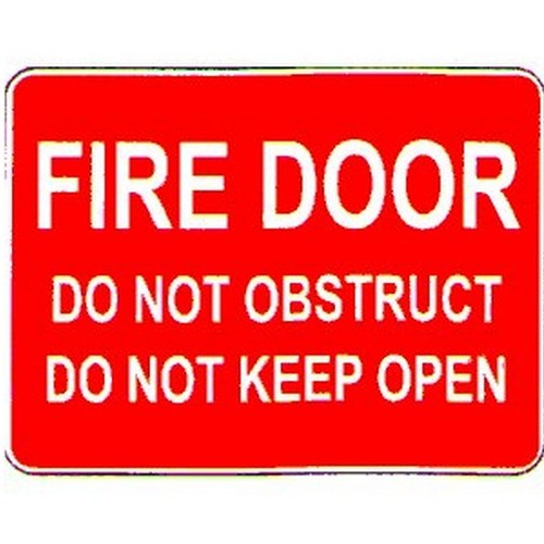 Stick Fire Door Do Not ObsKeep Open Label