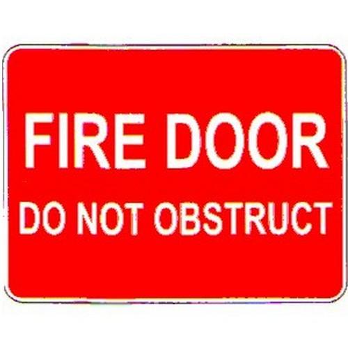 Stick Fire Door Do Not Obstruct Label