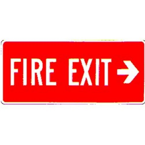 Stick Fire Exit Right Arrow Label