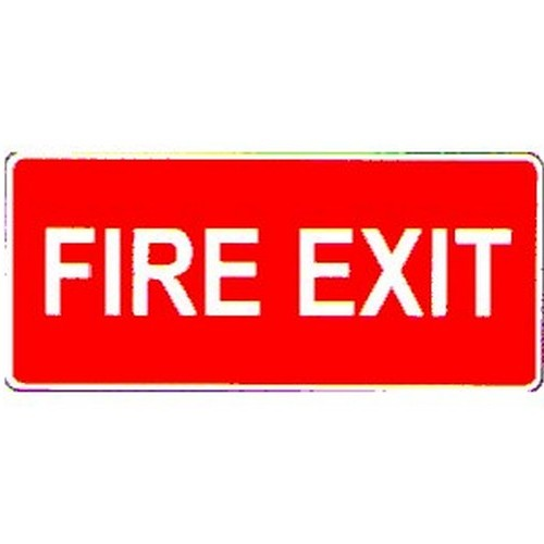 Stick Fire Exit White On Red Label