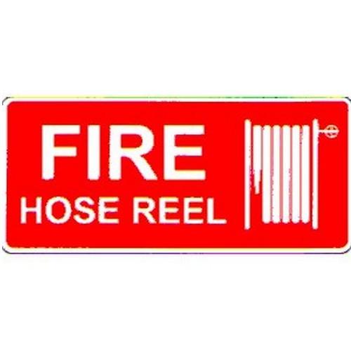 Stick Fire Hose Reel Symbol Label