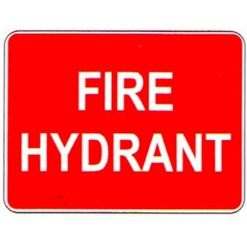 Stick Fire Hydrant Label