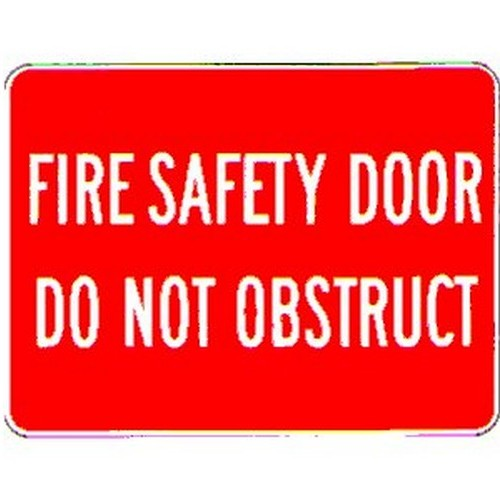 Stick Fire Safety Do Not Obstruct Label