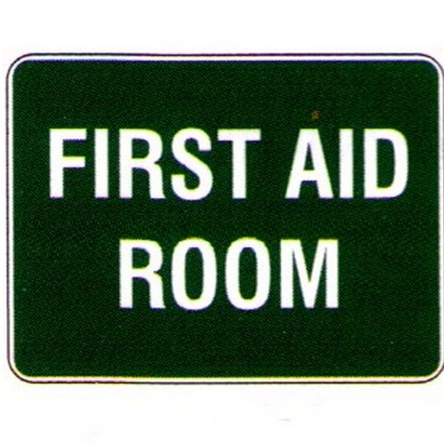 Stick First Aid Room Label