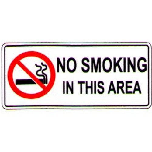Stick No Smoking In This Area Label