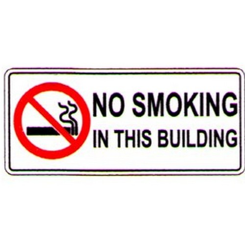 Stick No Smoking In This Building Label