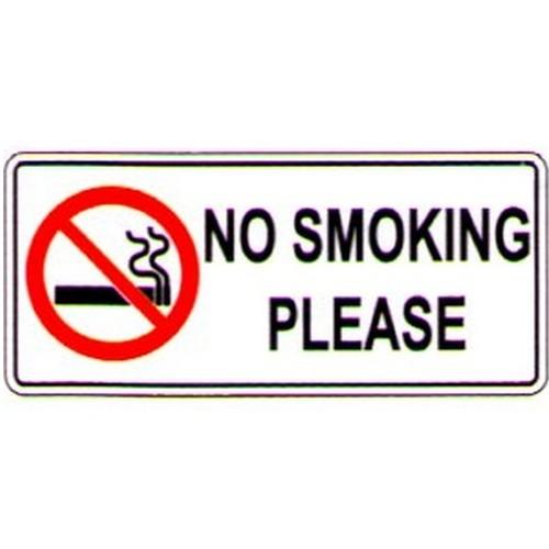 Stick No Smoking Please Label