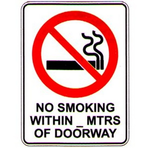 Stick No Smoking With Mtrs Label
