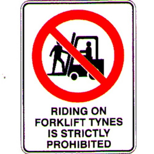 Stick Riding On Forklift Tynes Label