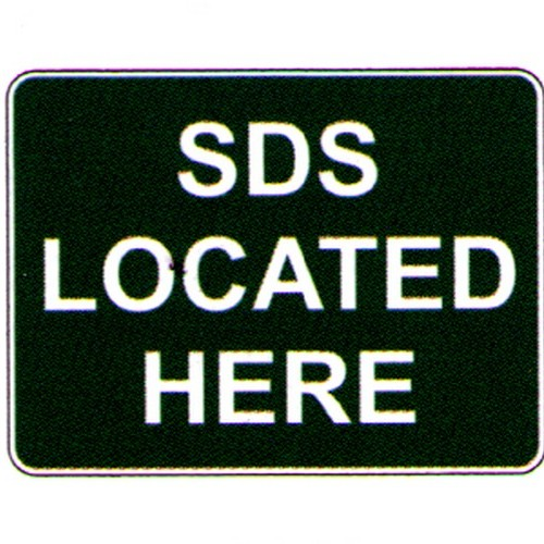 Stick Sds Located Here Label