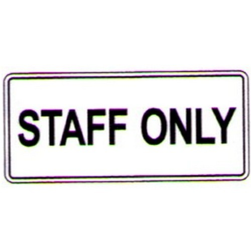 Stick-Staff-Only-Label
