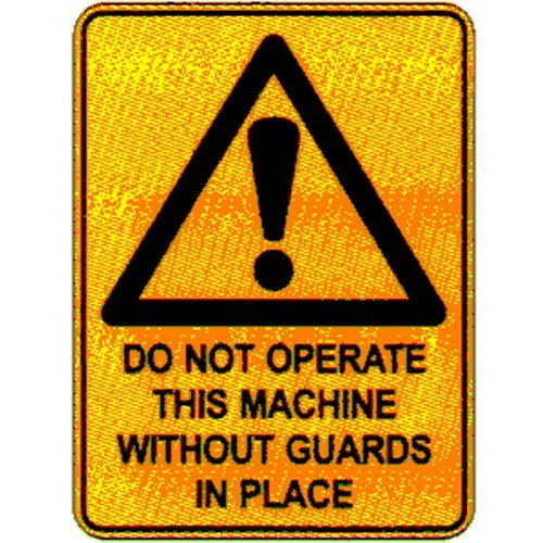 Stick Warn Do Not Operate This Label