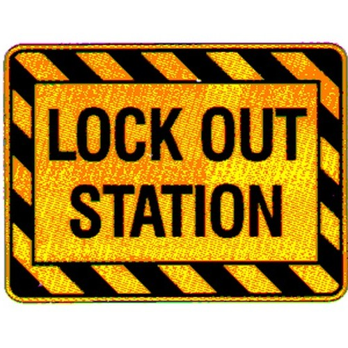 Stick Warning Lock Out Station Label