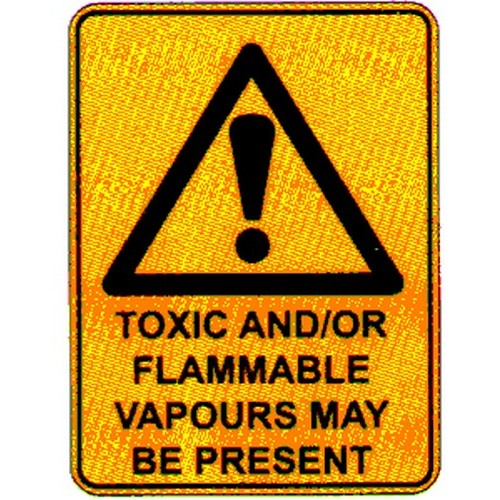 Stick Warning Toxic Flammable Label