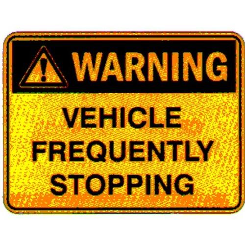 Stick Warning Vehicle Freq Stop Label