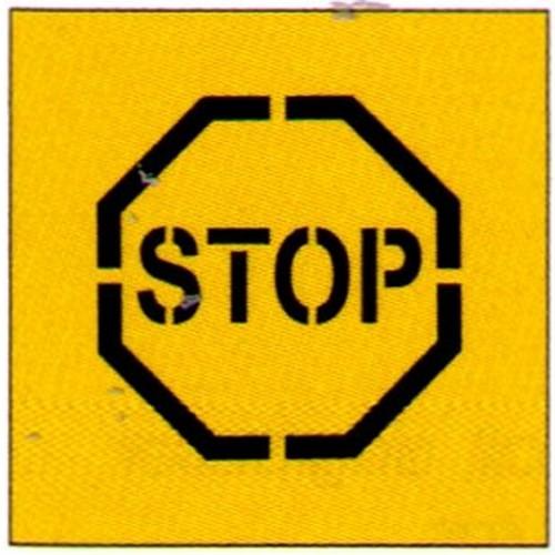 Stop Symbol Stencil