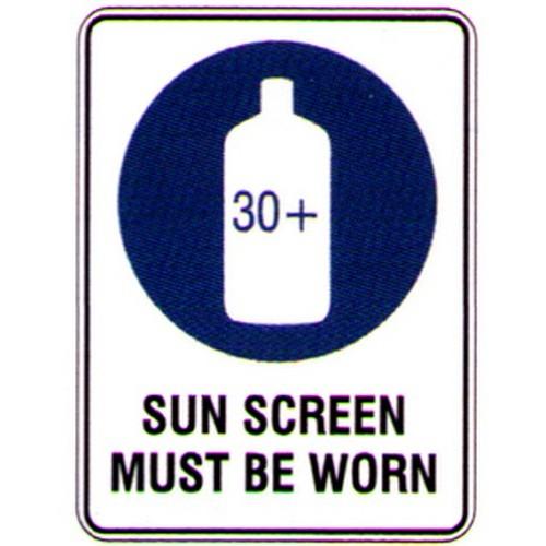 Sun Screen Must Be Worn Sign