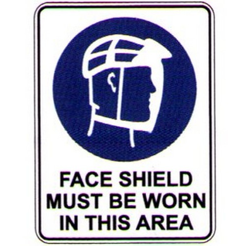 Symbol Face Shield Must Be Sign