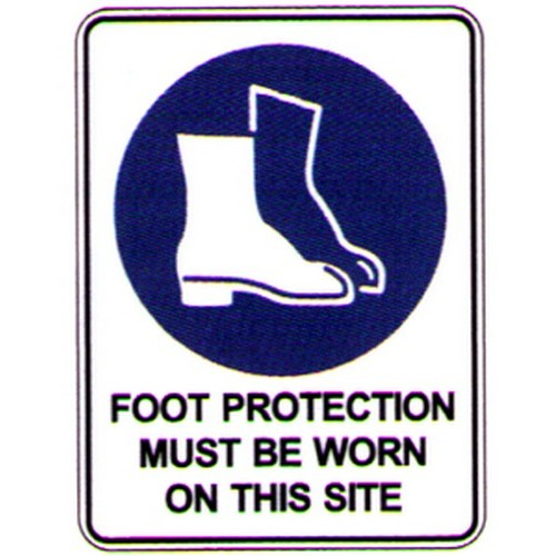 Symbol Foot Prot Site Sign