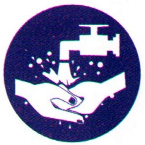 Symbol-Hand-Wash-Label