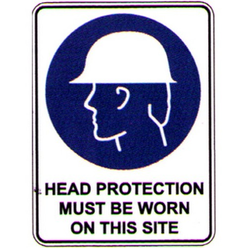 Symbol Head Protection SITE Sign