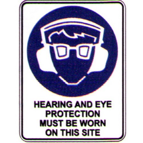 Symbol Hearing Eye Prot This Sign