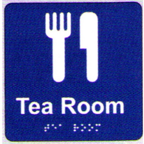 Tea-Room-Braille-Sign
