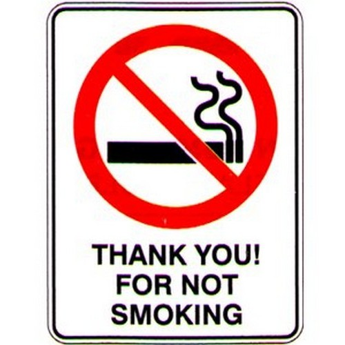 Thank You! For Not Smoking Sign