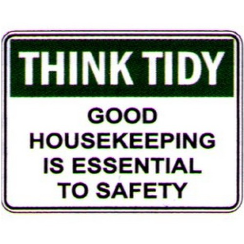 Think-Tidy-Good-House-Keep-Sign