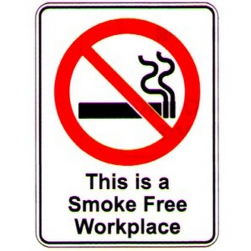 This Is A Smoke Free Work Sign