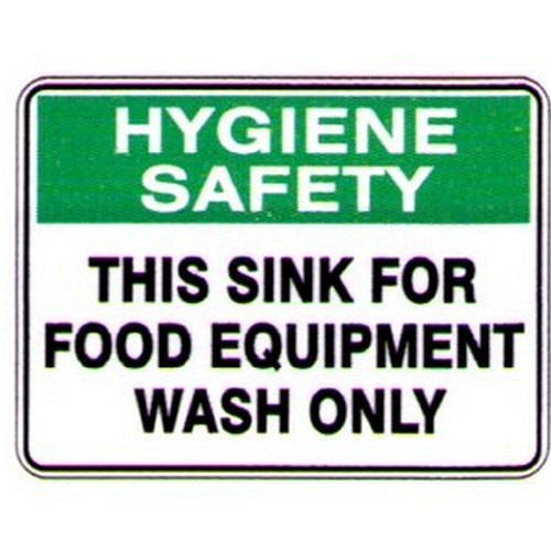 This Sink Equip Wash Only Sign