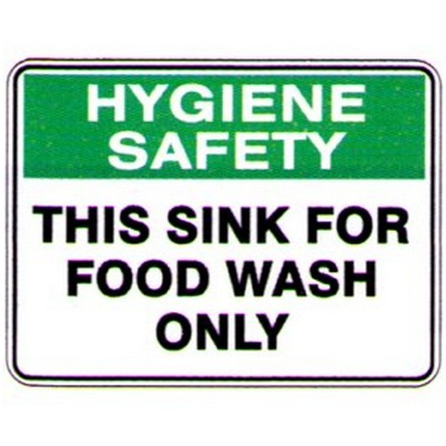 This Sink Food Wash Only Sign