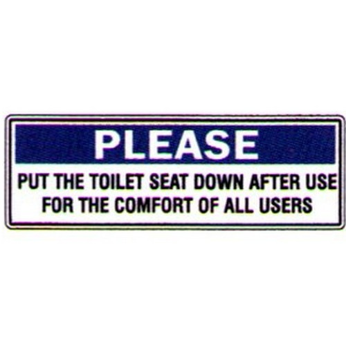 Toilet Seat Down Sign
