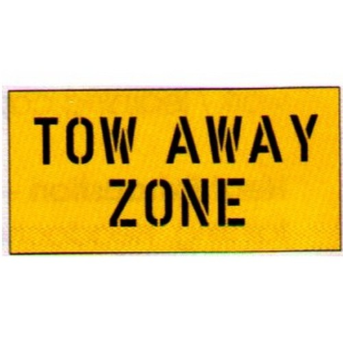 Tow Away Zone Car Park Stencil