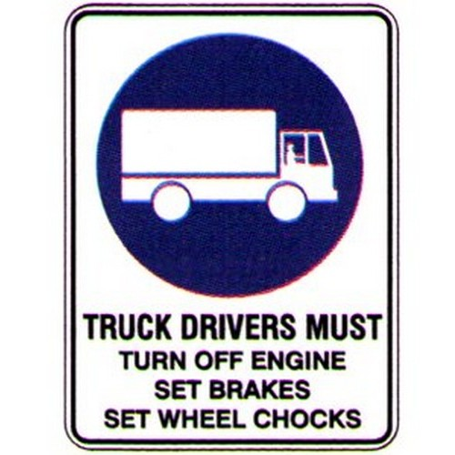 Truck-Drives-Must-Turn-Sign
