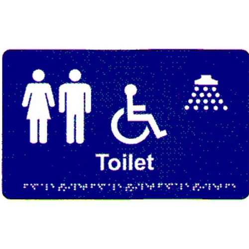 Unisex-Disable-Shower-Braille-Sign