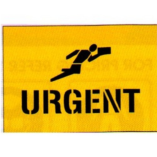 Urgent+Picto Packaging Stencil