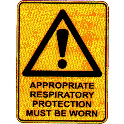 Warning Approp Resipatory Sign