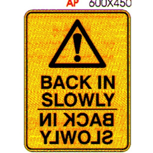 Warning Back In Slowly Sign