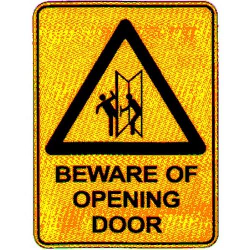 Warn Beware Of Opening Sign