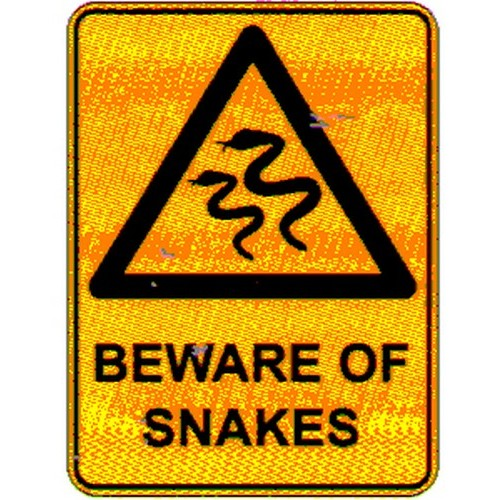 Warning Beware Of Snakes  Sign