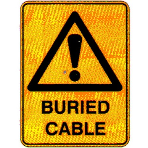 Warning Buried Cables Sign