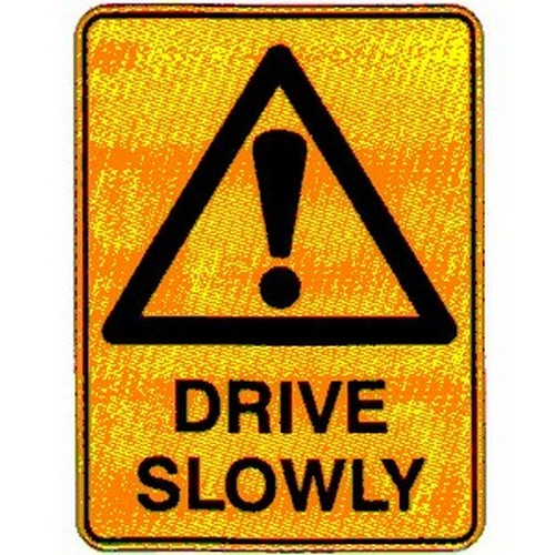 Warning-Drive-Slowly-Sign