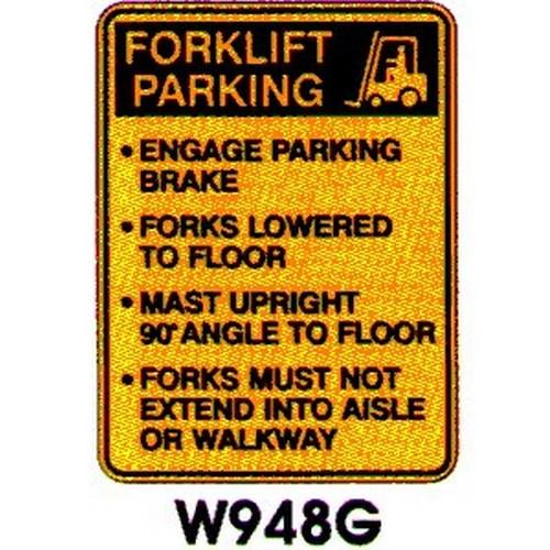 Warning FLift Parking Instr Sign
