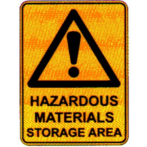 Warning HazMat Storage Sign