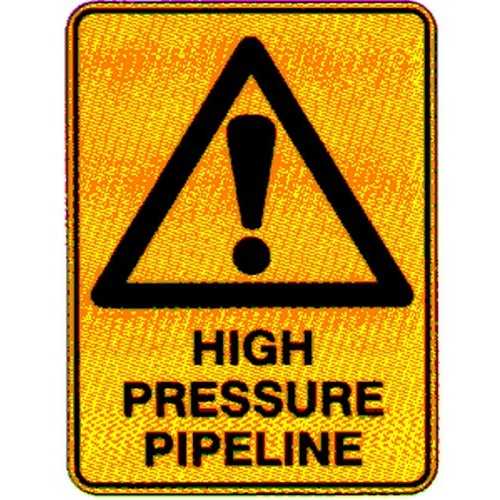 Warning High Pressure Pipe Sign