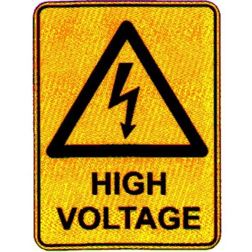 Warn High Voltage  Labels